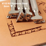 Leather stamp tool Kit #115 Stainless Steel - SpasGoranov