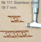 Leather stamp tool #111 Stainless Steel - SpasGoranov