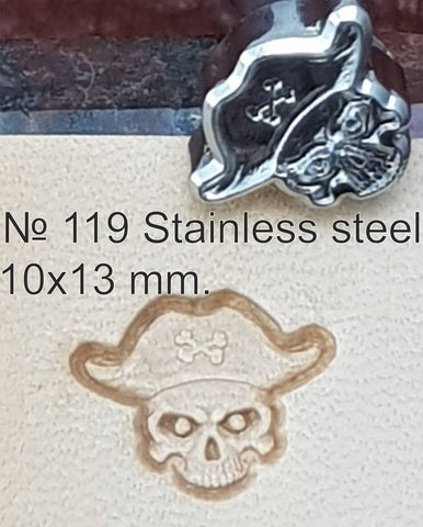 Leather stamp tool #119 Stainless Steel - SpasGoranov