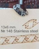 Leather stamp tool #148 Stainless Steel - SpasGoranov