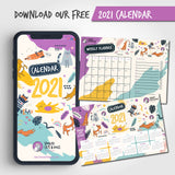 FREE 2021 Calendar - Spoiled Cats and Dogs