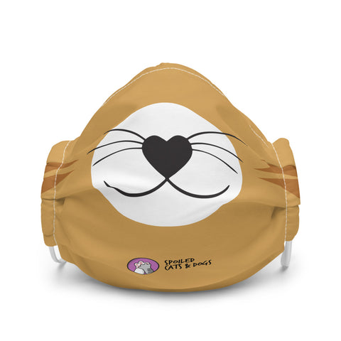 Cat Premium face mask - GOLD - Spoiled Cats and Dogs