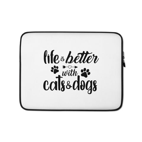 Laptop Sleeve - Spoiled Cats and Dogs