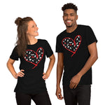Dogs Heart - Spoiled Cats and Dogs - Short-Sleeve Unisex BLACK T-Shirt