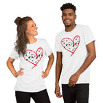 Dogs Heart - Spoiled Cats and Dogs - Short-Sleeve Unisex WHITE T-Shirt