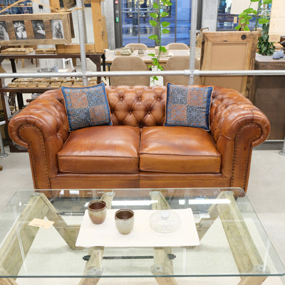 Old England Sofa - Caramel Brown - cm 180