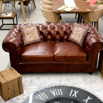 Old England Sofa - Dark Brown - cm 180
