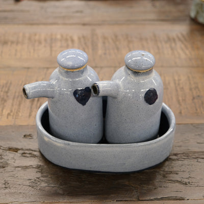 Keramik Oil & Vinegar Bottle Set - Marina