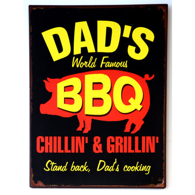 Metall Plakat Dad's BBQ