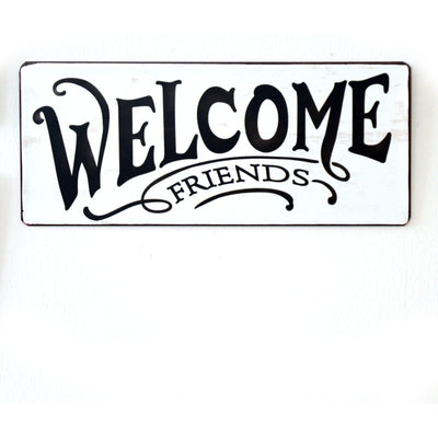 Metall Plakat - Welcome friends