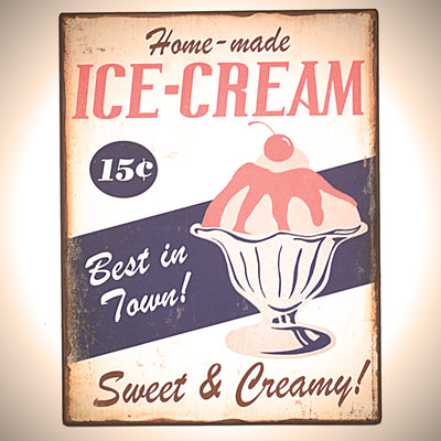 Metall Plakat - Ice Cream