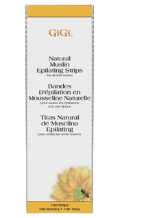 Gigi Natural Muslin Waxing Strips Large #0610