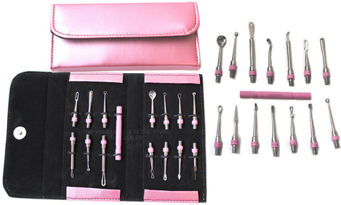 15pc Pink Blackhead Pimples Extractor Cosmetology tool kit Set