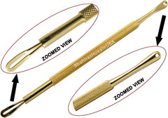 Gold Plated Blackhead Pimple Comedone Extractor Tools 1L1S