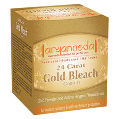 Aryanveda Gold Facial Skin Bleach Cream 24g