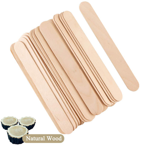 "100/pk Wax Spatulas Waxing Sticks Wood Applicators 1/4"" x 5½"""