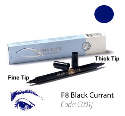 HennaEyes Henna EyeLiner Pen Black Currant Color