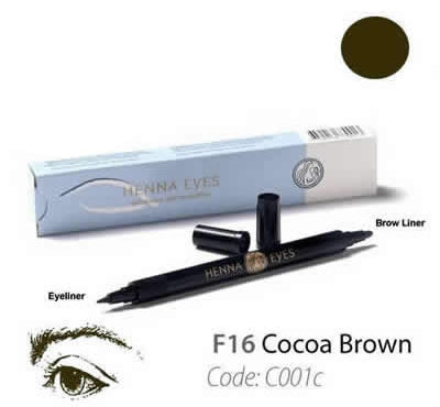 HennaEyes Henna EyeLiner Pen Cocoa Brown Color