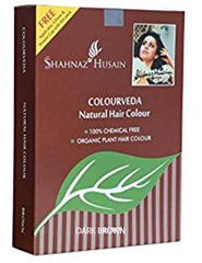 DARK BROWN Colorveda Organic Henna Indigo Hair Dye