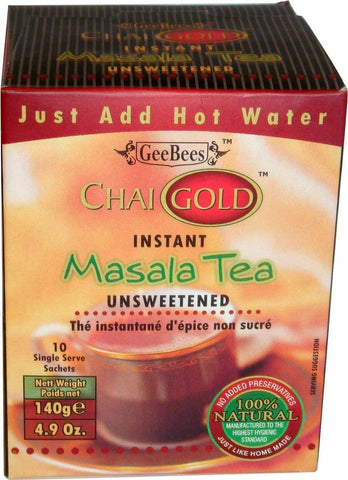 Chai Gold Instant Masala Tea Unsweetened 140g
