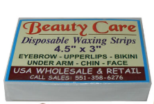 Beauty Care Disposable Waxing Strips 4.5'' x 3''