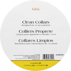 GIGI - 50 Packs of Collars for wax warmers for 14oz cans