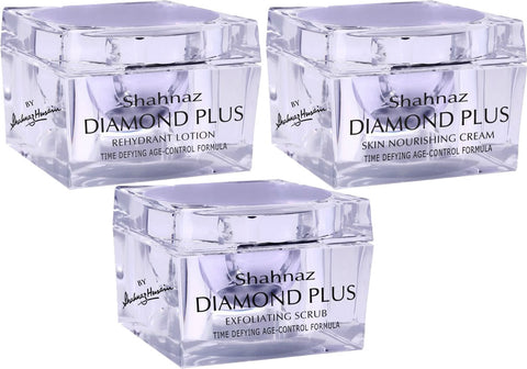 Shahnaz Diamond Facial Kit Lotion Cream Scrub
