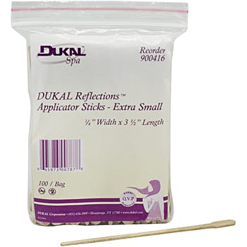 Dukal Reflections Applicator Sticks - Extra Small 100 Count