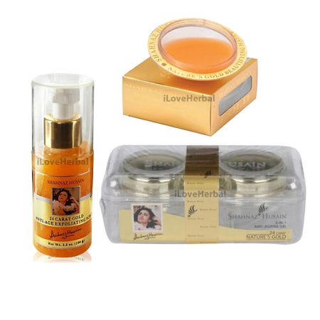 Home use Shahnaz Husain Gold Facial Kit 3 Pack