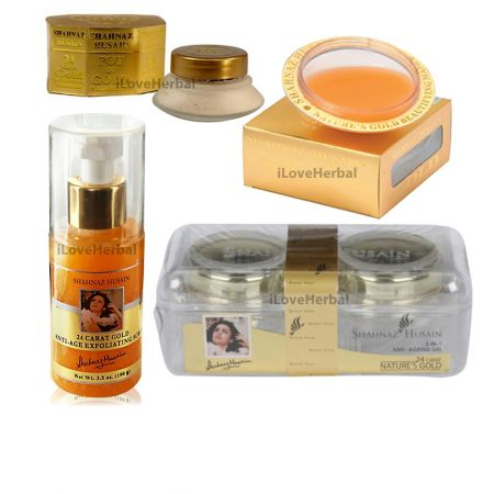 Home use Shahnaz Husain Gold Facial Kit 4 Pack