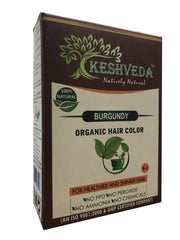 Keshveda Burgundy Natural Hair Color 60gm