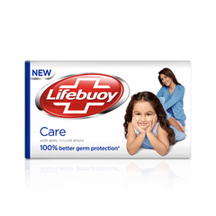 "Lifebuoy ""Care"" With Milk Cream 90 gm Soap Bar"