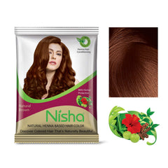 Nisha Natural Henna Based Hair Color (Brown)