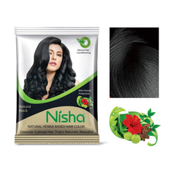 Nisha Natural Henna Based Hair Color (Black)