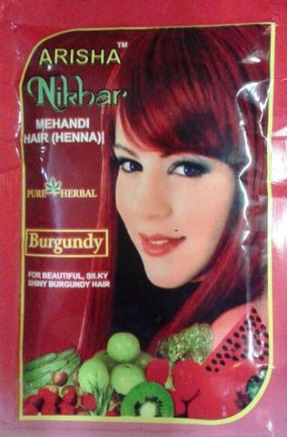 Afrin Nikhar Burgundy Henna Hair Color