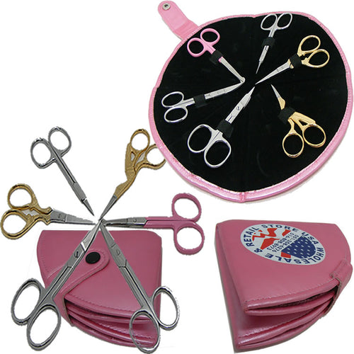 6pcs Small Multipurpose Scissor Kits For Eyebrow Shaping