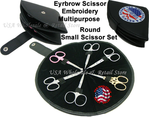 6pcs Small Multipurpose Scissor Kits Eyebrow Shaping
