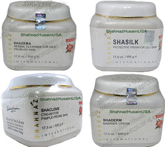 Salon Size Acne Facial Kit Shazema Shaclove Shaderm Shasilk