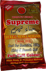Supreme Herbal Henna Powder - Wine Red 100 g