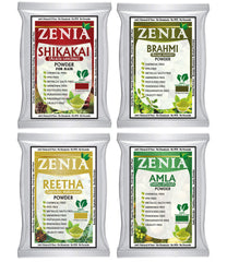 Zenia Herbal Hair Care Combo Pack 100g Amla, Brahmi, Shikakai, Aritha Powder
