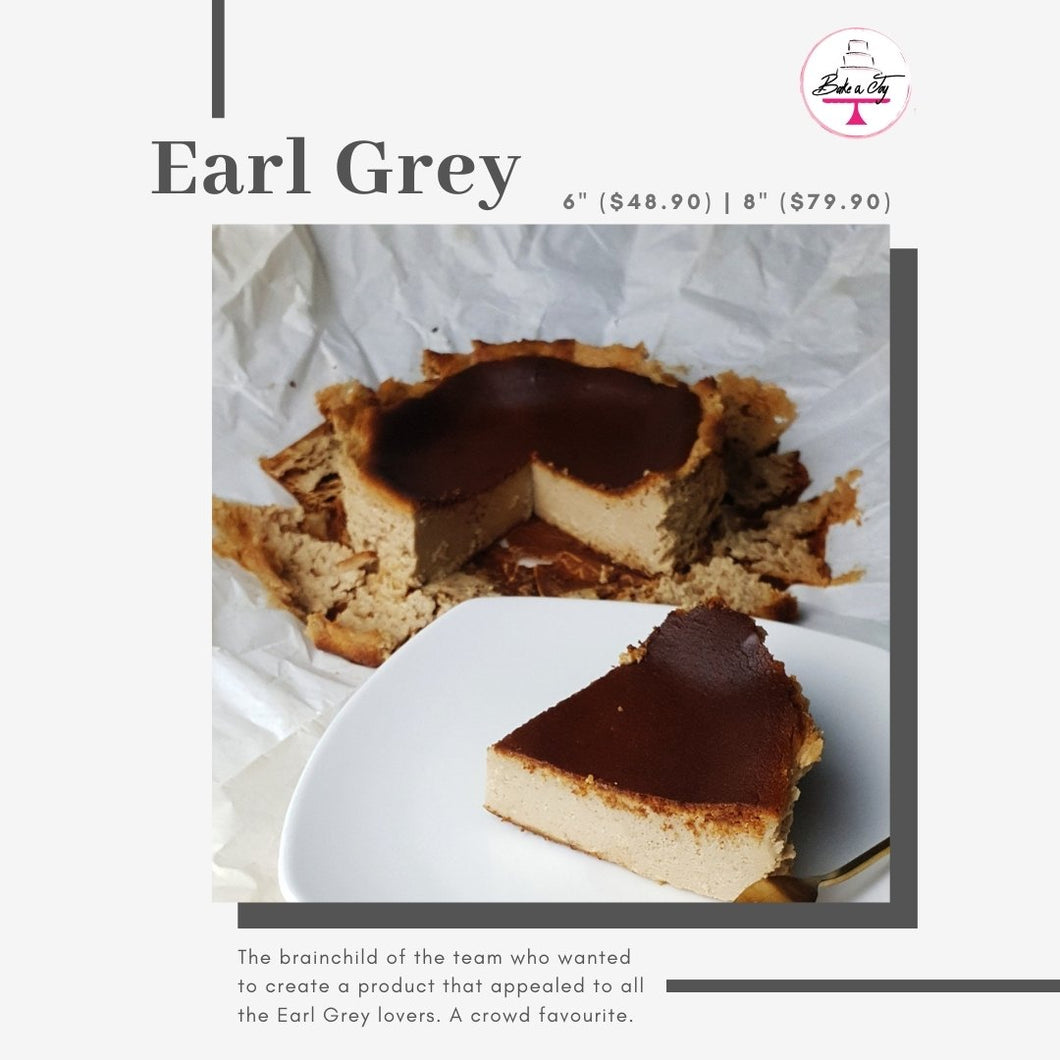 Earl grey burnt cheese cake