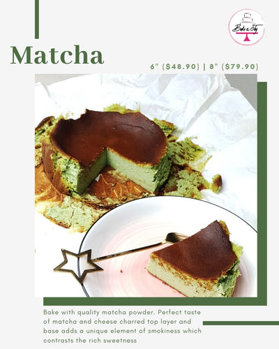 Matcha burnt cheese cake
