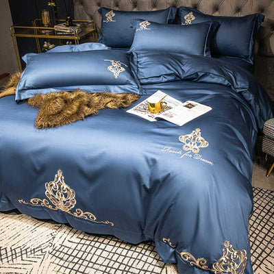 60S Egyptian Cotton Embroidered Bedding Set | Yedwo Home