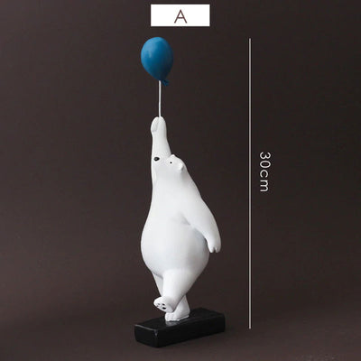 Balloon Flying Polar Bear | Yedwo Home