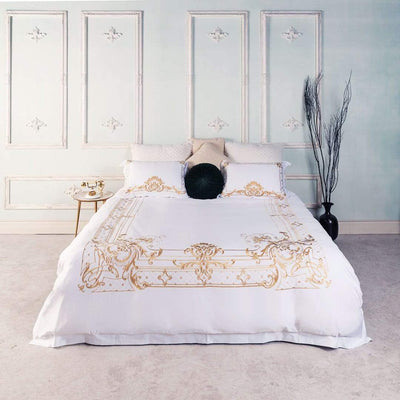 Egyptian Cotton Chic Golden Embroidery Duvet Cover Set | Yedwo Home