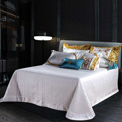 Evaria Satin Cotton Luxury Royal Duvet Cover Set | Yedwo Home