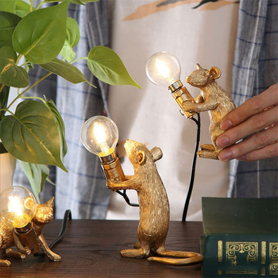 3 Pcs Mouse Shape Resin Table Lamp | YEDWO DESIGN