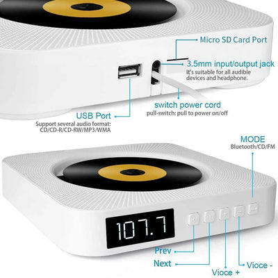 Wall Mountable CD Music Player | Yedwo Design