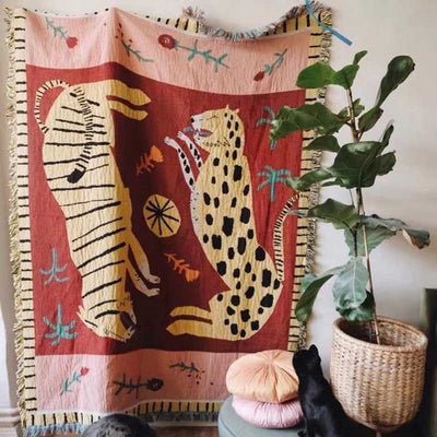 Original Tiger & Panther Tapestry | Yedwo Design