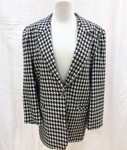 Vintage Hounds-Tooth Jacket (L) - HOB Boutique